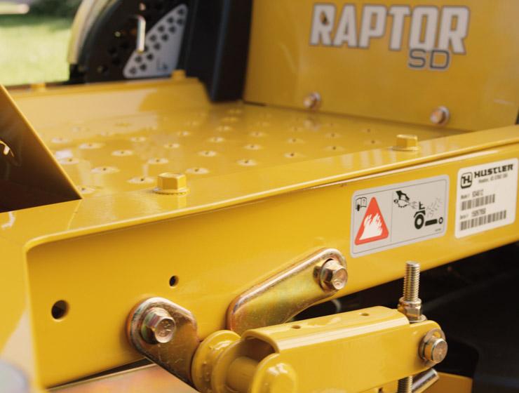 Hustler meilleur fabricant de machine tondeuse raptor